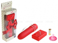 Мини-вибратор на дистанционном управлении Crystal Red Mini Vibe