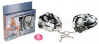 Наручники меховые Love cuffs зебра