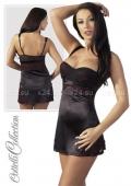 Эластичное мини-платье с плотными чашечками и с вышивкой M