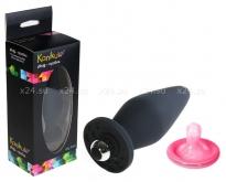 Средняя анальная вибро-втулка My Toy (7 режимов) черный