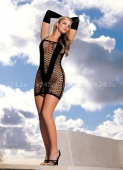 Черное бесшовное мини-платье