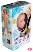 Стонущая пышногрудая блондинка с реалистичной вагиной и вибрацией