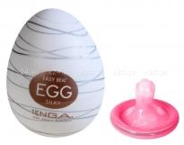 Супер эластичный мастурбатор в виде яйца SILKY