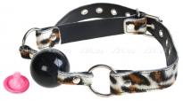 Кляп на леопардовом ремешке Toyfa
