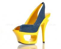 Туфли джинсовые на желтой подошве 40