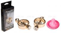 Золотые клипсы с кристаллами на соски Magnetic Clamps