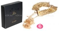 Золотой ошейник с цепями Desir Metalligue