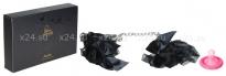 Элегантные наручники из черных лент с бантами Frou Frou