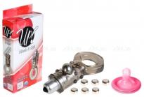 Эрекционное кольцо с вибро-стимуляцией Hook It Up (3 скорости) дымчатый
