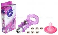 Эрекционное кольцо с вибро-стимуляцией Hook It Up (3 скорости) фиолетовый
