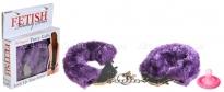 Фиолетовые меховые наручники Furry Cuffs