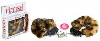 Металлические наручники с мехом Furry Cuffs