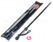 Черный стек розги с хромированной ручкой