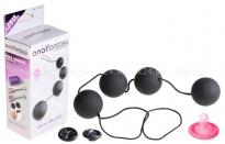 Четырехрядные анальные шарики Deluxe Vibro Balls