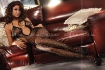 Черный комбинезон с украшением-сцепкой Basilia Black (SL)