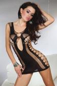 Мини-платье с узором из сетки Anshula black (SL)