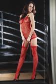 Красный ажурный комбинезон Catriona Red (SL)