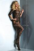Черный комбинезон с открытыми плечами Damita (SL)