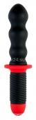 Вибратор с двойным мотором Black&Red (10 режимов)