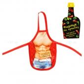 """Фартук для бутылки """"Для борьбы с женским стрессом"""""""