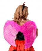 Малые розовые крылья из перьев
