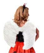 Малые белые крылья из перьев