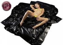 Черная виниловая простынь Orgy Laken
