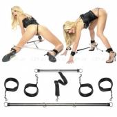 Металлические распорки для рук и ног Spread Em Bar & Cuff Set