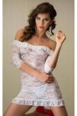 Белое ажурное платье SM