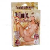 Надувная куколка для любви The Blonde Starlet (3 отверстия)