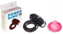 Эрекционное кольцо с клитораальным массажером Power Ring (10 режимов)
