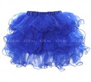 Синяя пышная юбочка