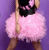 Розовая пышная юбочка