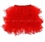 Красная пышная юбочка