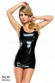 Двухстороннее платье с цепочками под винил Veronique LXL