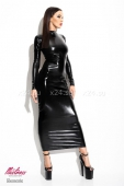 Длинное платье под винил открытое сзади Dorothea SM