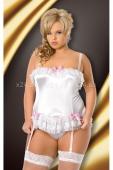 Белое мини-платье со шнуровкой сзади Sybil XXL