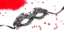 """Чёрная ажурная маска на завязочках """"Андреа"""""""