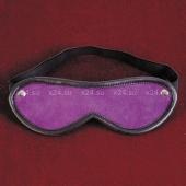 Кожаная фиолетовая маска на глаза Toyfa