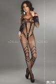 Фантазийный комбинезон с длинными рукавами Siriana Black (SL)