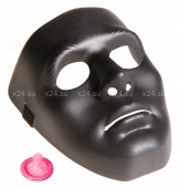 Черная маска с регулирующейся лентой