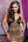 Леопардовое мини-платье с открытой спиной Q