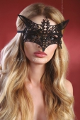 Чёрная ажурная маска Mask Black Model 9