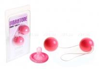 Вагинальные шарики Vibrotone Duo Balls розовый