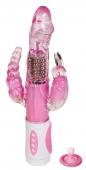 Ротационный вибратор с анальным и клиторальным стимулятором Pretty Bunny