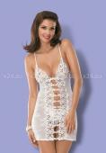 Белая эротичная сорочка со стрингами Bride Chemise SM