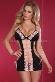 Чёрно-розовая эротичная сорочка Maddi LXL