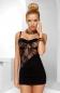 Чёрное мини-платье с кружевной вставкой Tiffany Chemise LXL
