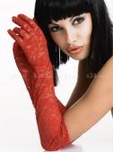 Красные гипюровые перчатки