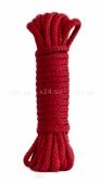 Красная веревка для связывания Bondage Rope Black (9 м)